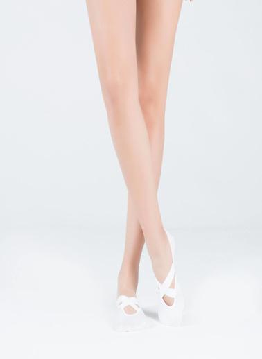 Katia & Bony Asta Yoga Basic Görünmez Çorap  Beyaz